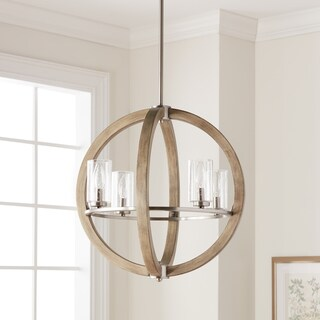 Kichler Lighting Grand Bank Collection 4-light Distressed Antique Gray Chandelier