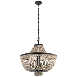 Kichler Lighting Brisbane Collection 6-light Distressed Black Chandelier