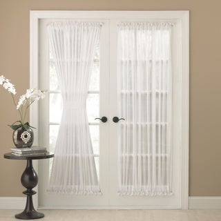 Semi-Sheer 72-inch Tailored Door Curtain Panel With Tieback
