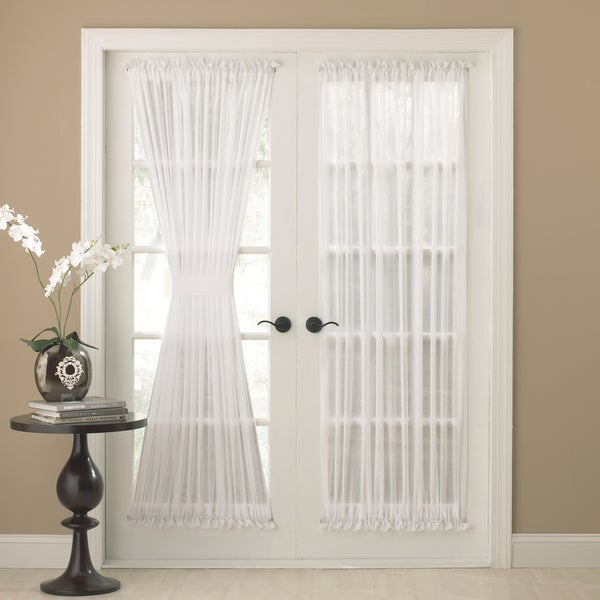 Shop Semi-Sheer 72-inch Tailored Door Tie-back Curtain