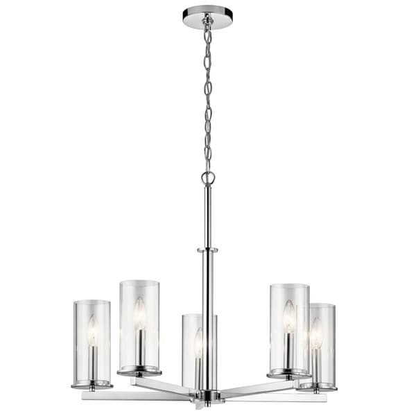 Kichler Lighting Crosby Collection 5 Light Chrome Chandelier