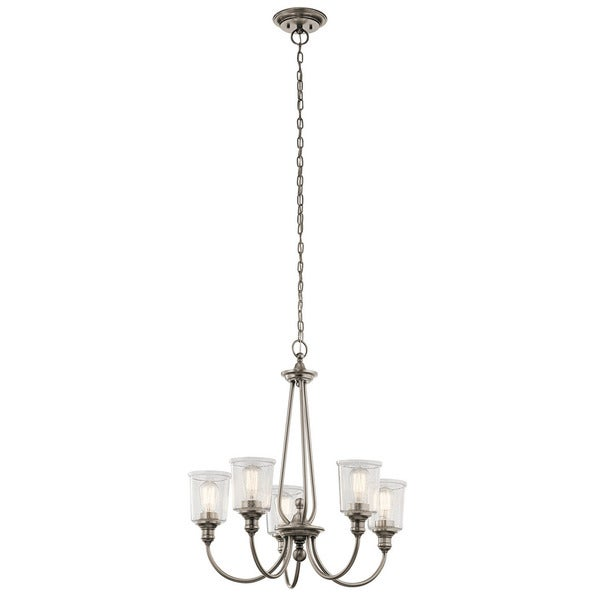 Kichler lighting waverly collection 5 light classic pewter kichler lighting waverly collection 5 light classic pewter chandelier aloadofball Image collections