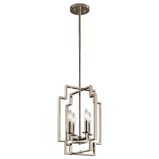 Kichler Lighting Downtown Deco Collection 4-light Polished Nickel Foyer Pendant