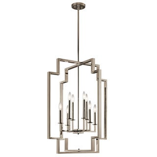 Kichler Lighting Downtown Deco Collection 8-light Polished Nickel Foyer Chandelier