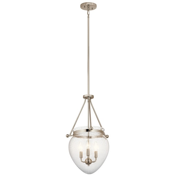 Kichler Lighting Fiona Collection 3-light Polished Nickel Foyer Pendant