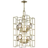 Kichler Lighting Vance Collection 8-light Natural Brass Foyer Chandelier