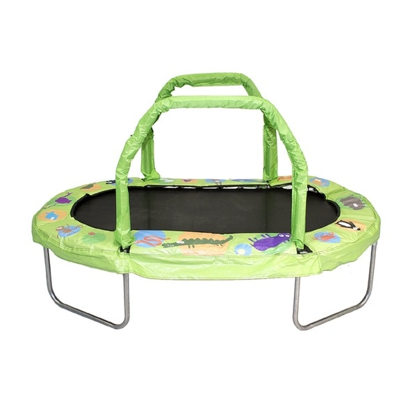 Jumpking Green 38-inch by 66-inch Green Mini Oval Trampoline