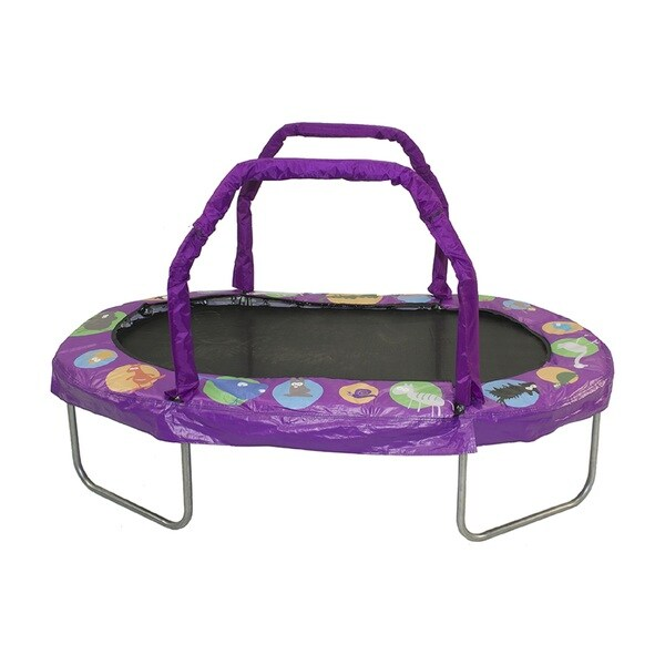 Jumpking Purple 38-inch x 66-inch Mini Oval Trampoline