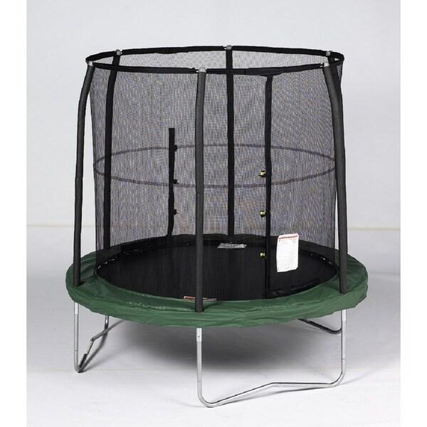 Bazoongi Galvanized Steel 7.5-foot Trampoline Enclosure Combo