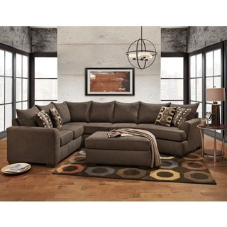 SOFA TRENDZ Cedar 2-pc Sectional and Ottoman Set