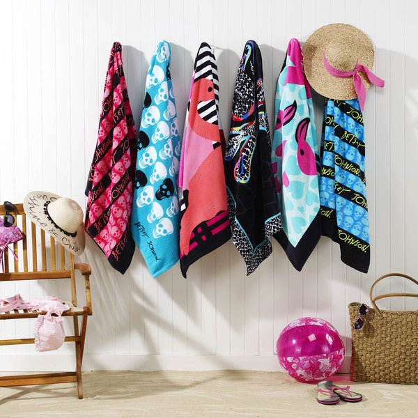 Betsey Johnson Skull Stripe Beach Towel Set Free Shipping On Orders Over 45 14333926