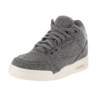 Nike Jordan Kids Air Jordan 3 Grey Wool Retro Basketball Shoes