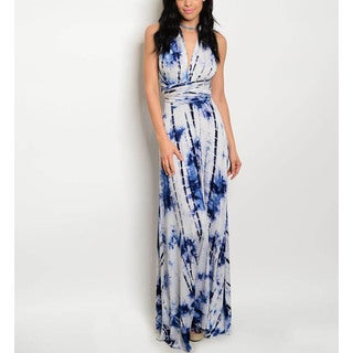 Jed Women's Rayon and Spandex Tie-dye Stretchy Convertible Infinity Maxi Dress