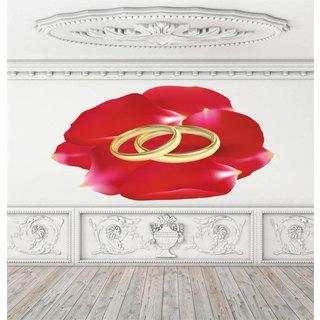 Full Color Wedding Bands Full Color Decal, Wedding Decor, Bridal Salon, Groom Bride Sticker Decal size 44x60