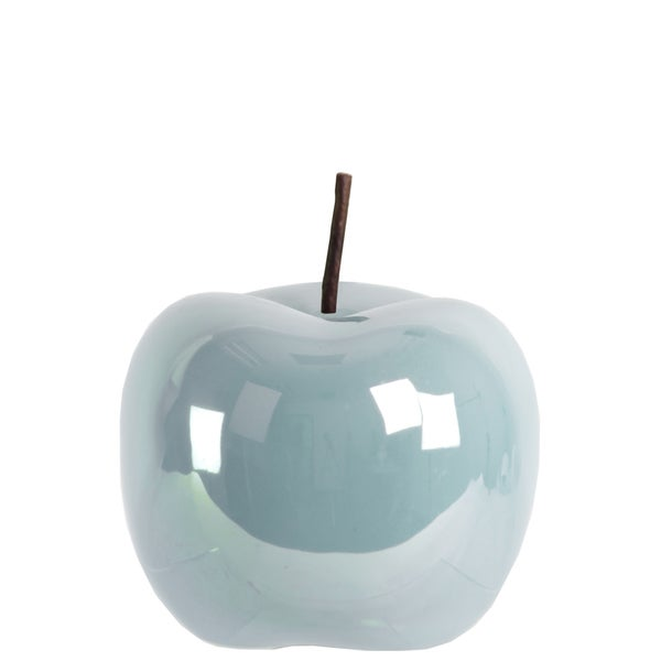 Urban Trends Collection Blue Ceramic Large Pearlescent-finish Apple Figurine