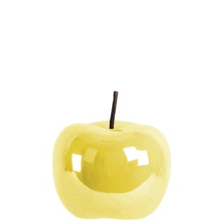 Urban Trends Collection Pearlescent Yellow Ceramic Apple Figurine