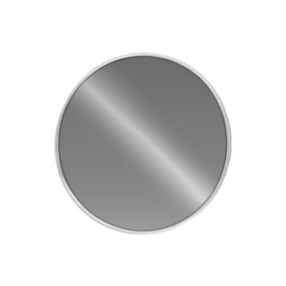 Urban Trends Collection Silvertone Metal Metallic Round Wall Mirror