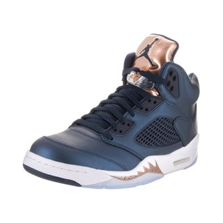 Nike Jordan Men's Air Jordan 5 Blue Retro Basketball Shoes