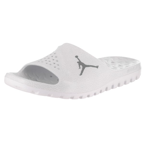 c41459a1d34528 Shop Nike Jordan Men s White Super.Fly Team Slide 2 Graphic Sandals ...