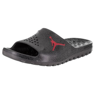 Nike Jordan Men's Jordan Super.Fly Team Slide 2 Grpc Black Leather Sandal