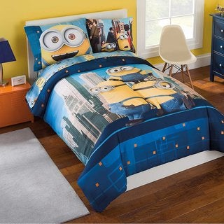 Minions Twin 5-Piece Bed in a Bag with Sheet Set