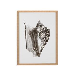 Bassett Mirror Co. 'Gold Foil Shell IV' Framed Wall Art