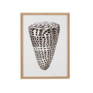 Bassett Mirror Co Gold Foil Shell I Framed Wall Art