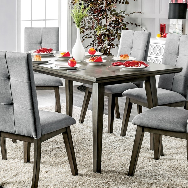 Furniture of america monterra mid century modern grey for Dining room tables home goods