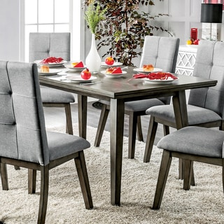 Furniture of America Remi Mid-Century Modern Angular Grey Dining Table