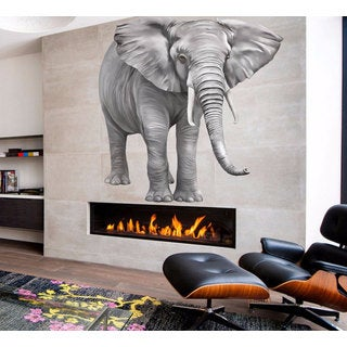 Full Color Elephant Full Color Decal, Fox Full color sticker, Elephant wall art, wall Sticker Decal size 22x22