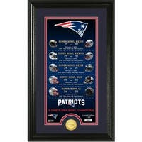 New England Patriots Legacy Supreme Bronze Coin Photo Mint
