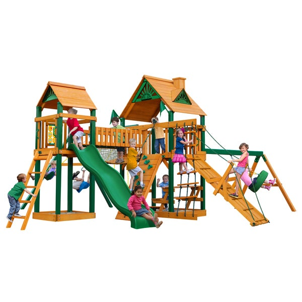Gorilla Playsets Pioneer Peak w/ Timber Shield and Standard Wood Roof