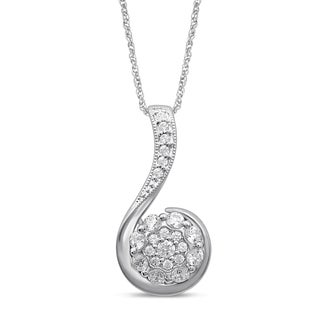 Unending Love 10k White Gold 2/5ct TDW White Diamond Fashion Pendant (I-J, I2-I3)