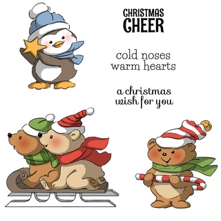Art Impressions Christmas Cling Rubber Stamp Set 8X4-Christmas Cheer
