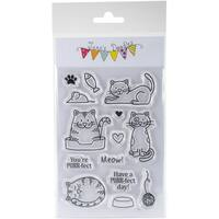 "Jane's Doodles Clear Stamps 4""X6""-Cats"
