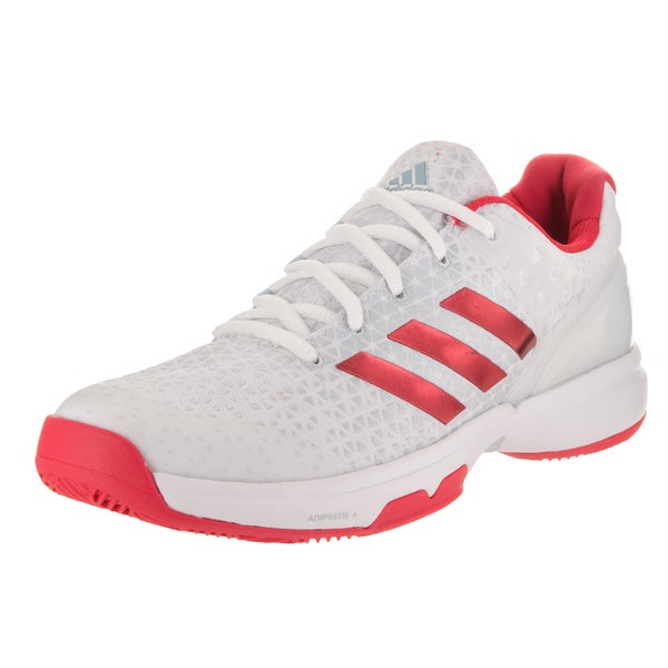 21341d85de6 Shop Adidas Women s Adizero Ubersonic 2 Red and White Tennis Shoes ...