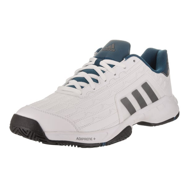 big sale 48581 81ac7 Adidas Menx27s Barricade Court 2 White Synthetic-leather Wide Tennis  Shoes