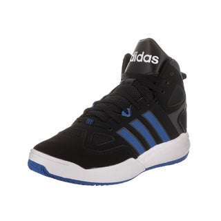 Adidas Men's Cloudfoam Thunder Black Synthetic-leather Mid Basketball Shoes