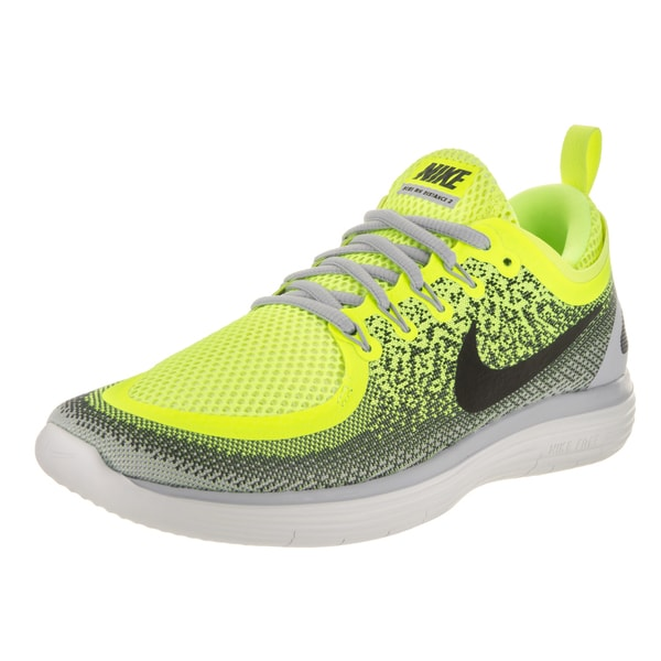 4453fbd404efb Shop Nike Men's Free Rn Distance 2 Volt Yellow Running Shoe - Free ...