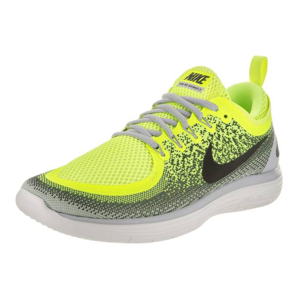 Shop Nike Men S Free Rn Distance 2 Volt Yellow Running Shoe Overstock 14334686