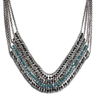 Drape Chain and Teal Bead Bib Necklace|https://ak1.ostkcdn.com/images/products/14334801/P20913235.jpg?impolicy=medium