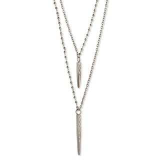 Silver Overlay Double Chain Necklace