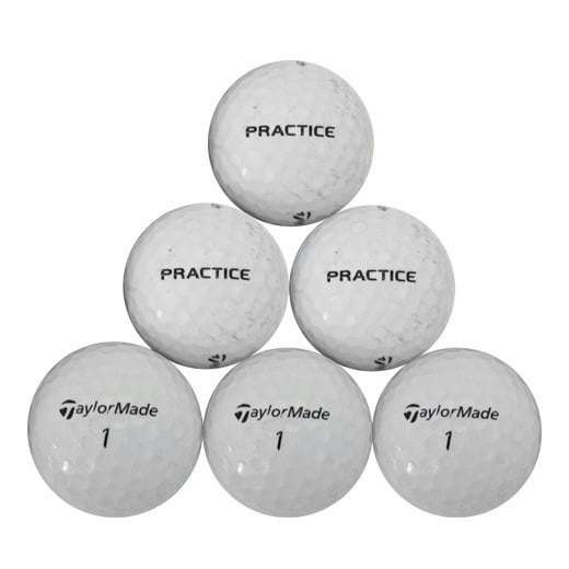 TaylorMade Practice Recycled Golf Balls with Bucket (Pack of 50)