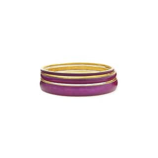 Set of 3 Purple Resin Bangle Bracelets