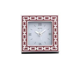 Reed & Barton Silver Link Poppy Clock