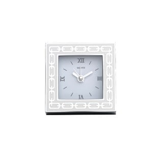 Reed & Barton Silver Link White Clock