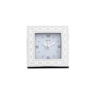 Reed Barton Silver Link White Clock