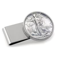 American Coin Treasures Silvertone Stainless Steel Year to Remember Half-dollar Money Clip
