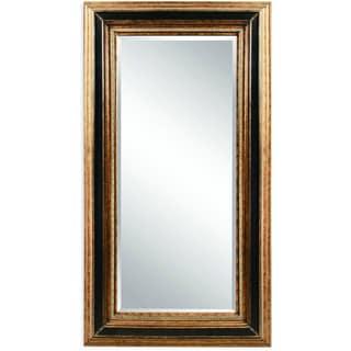 Vallejo Gold-framed full-length Leaning Floor Mirror