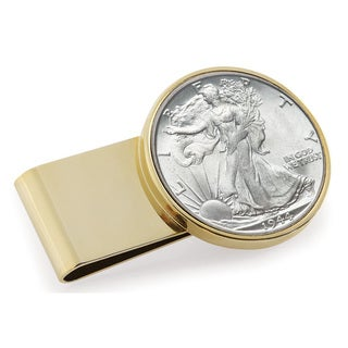 American Coin Treasures Goldtone Stainless Steel Year to Remember Half-dollar Money Clip